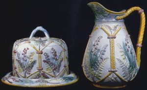 Lear_Floral_Cheese_Bell_And_Pitcher