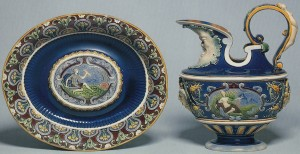 Minton_Palissy_Ewer_and_Stand
