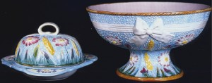 S_Fielding_Butter_Dish_And_Bowl