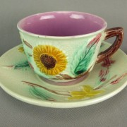 Sunflower tea cup and saucer