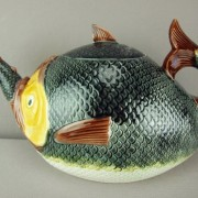 Fish eating fish teapot