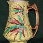 Basketweave and Bamboo pitcher