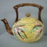 Basketweave and Bamboo tea kettle