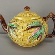 Basketweave and Bamboo teapot