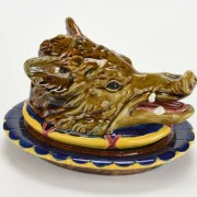 Boar head pate tureen