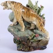 Monumental tiger figure