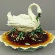 Swan inkwell deskset