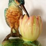 Delphin Massier kingfisher vase