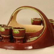 Art Nouveau egg basket
