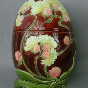 Art Nouveau jar with cover