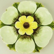 Pansy oyster plate