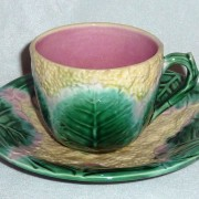 Cauliflower tea cup and saucer