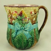 Bow and Floral pitcher