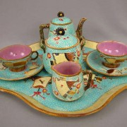 Simon Fielding Fan and Scroll tea set with tray