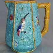Simon Fielding hummingbird pitcher with bamboo handle