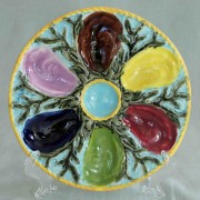 Polychrome oyster plate