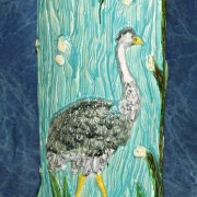 Stork walking stick stand