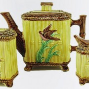 Bird and bamboo teaset