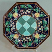 Octagonal pomegranate plate