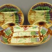 Asparagus server and plates