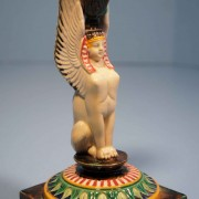 George Jones Egyptian sphinx candlestick