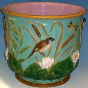 Bird and pond lily jardiniere