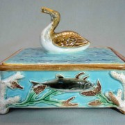 George Jones sardine box with diver finial