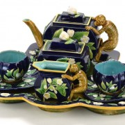 George Jones monkey teaset with tray
