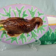 George Jones partridge game pie dish with insert