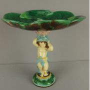 George Jones putti and pond lily cakestand