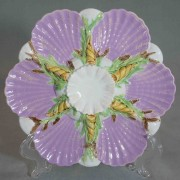 George Jones shell and coral oyster plate