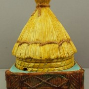 Thatched hut cheese keeper