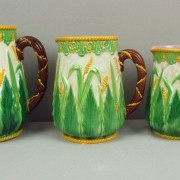 George Jones wheat pitchers in graduated sizes