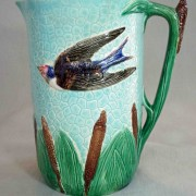 Bird and cattails pitcher