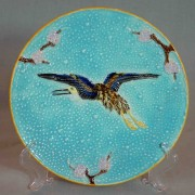 Bird and prunus plate