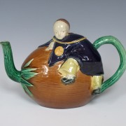 Joseph Holdcroft Chinaman and coconut teapot