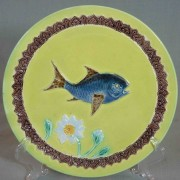 Fish and flower plate