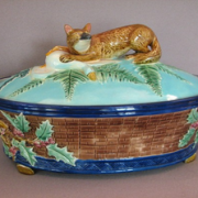 Joseph Holdcroft fox game pie dish