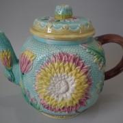 Samuel Lear dahlia teapot