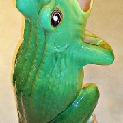 Singing frog walking stick stand