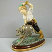 Minton boy and dog figure