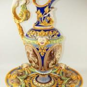 Minton Renaissance ewer by Pierre-Emile Jeannest