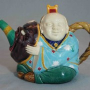 Minton Chinaman teapot with Noh mask