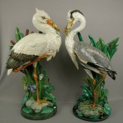 Minton heron and stork walking stick stands
