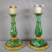 Minton lily candlesticks
