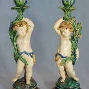 Minton putti harvest candlesticks