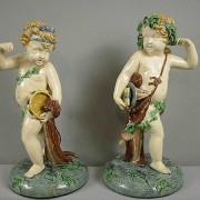 Minton musical putti figures