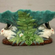 Minton rabbits table center
