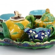 Minton mushroom lemon and melon tea set