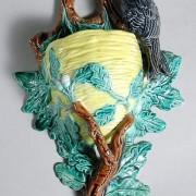 Bird on branch wall pocket